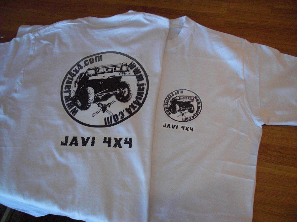 Camisetas 4x4 Con Logo Delante Y Detras Camisetas