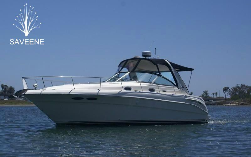 Enjoy the sea breeze aboard on a Sea Ray Sundancer yacht