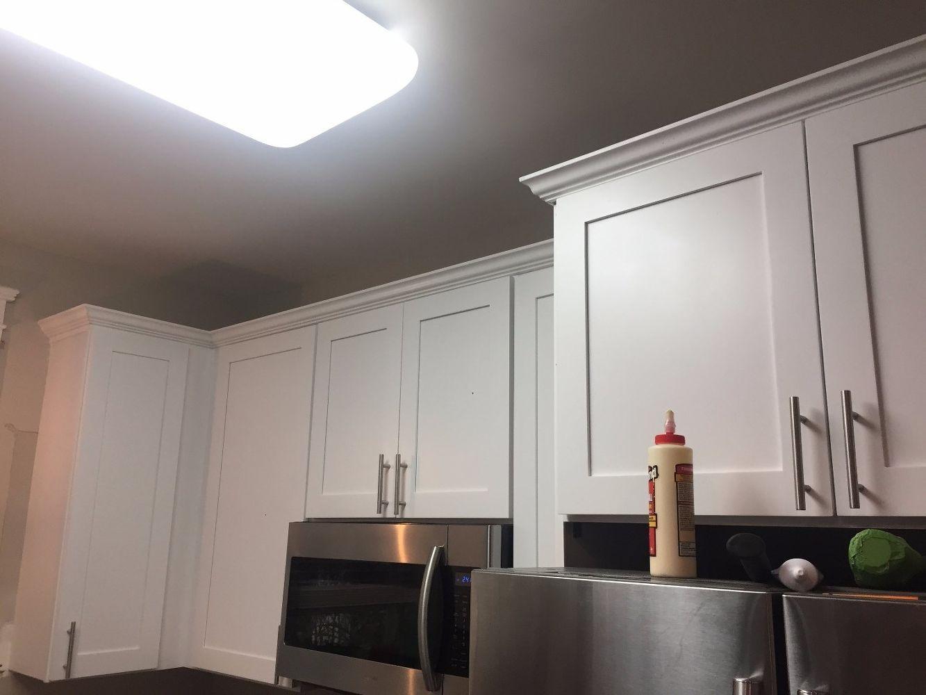 Kitchen Cabinet Crown Molding Make Them Fancy In 2020 Kitchen Cabinet Crown Molding Kitchen Cabinets Refacing Kitchen Cabinets