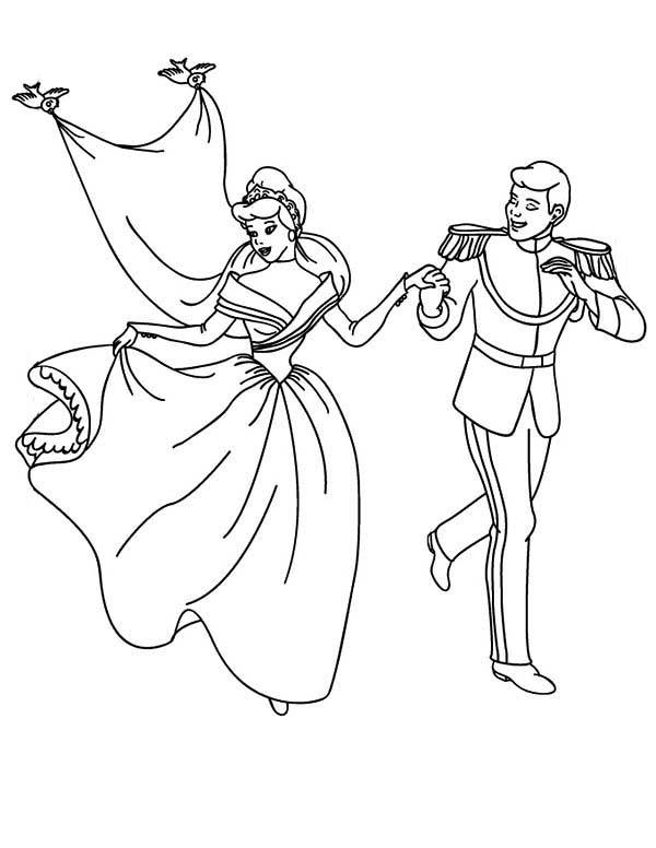 Cinderella And Prince Wedding Coloring Page Coloring Sun Wedding Coloring Pages Cinderella Coloring Pages Princess Coloring Pages