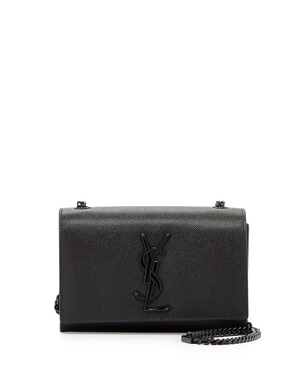 1e0b80799d38 Yves Saint Laurent Kate Monogram Small Shoulder Bag, Black, Women's