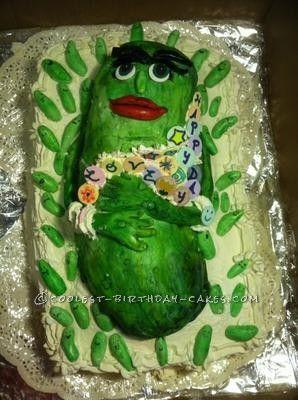 Coolest Big Pickle Cake Homemade birthday cakes Homemade birthday