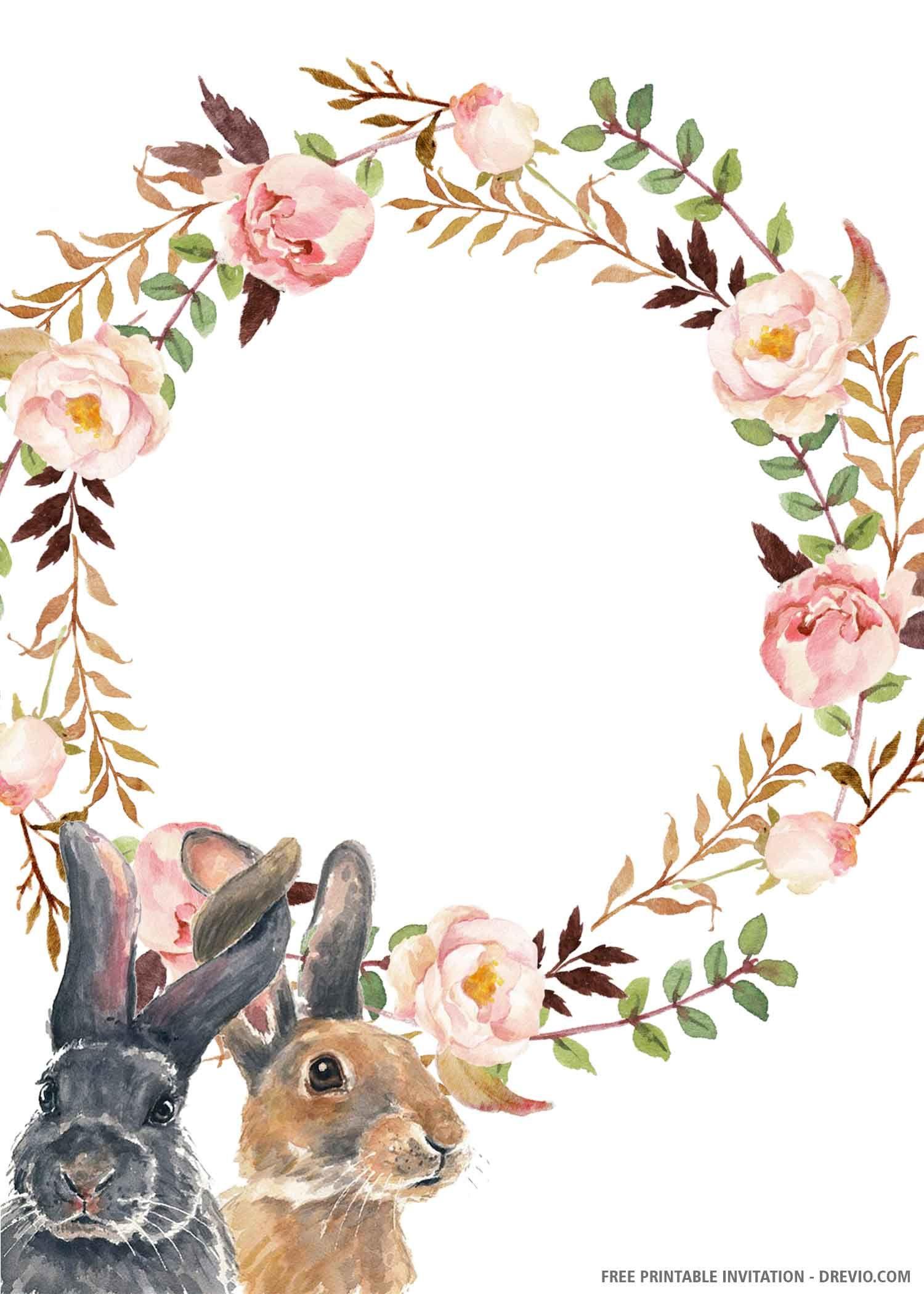 free printable cute bunny birthday