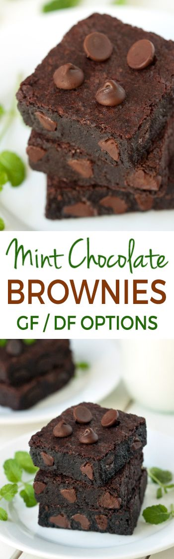 Mint and chocolate go so well together. That makes these ultra fudgy Mint Chocolate Brownies a delicious combination. They are super easy to make and are gluten-free, dairy-free and 100% whole grain!