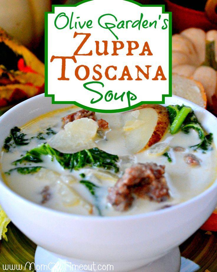 Olive Garden Zuppa Toscana Soup soooo good! I used half