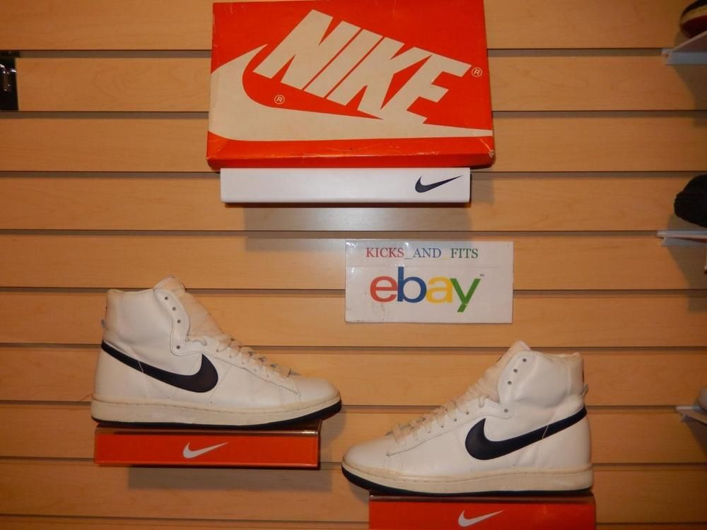 VTG OG 1985 Nike Penetrator w/Original Box White Blue 4134 size 10 RARE  VNDS air