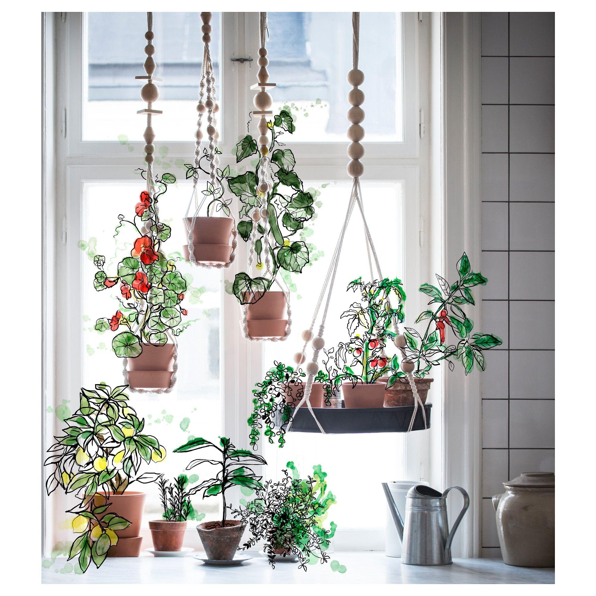 Ikea  Anv Ndbar, Hanging Plant Holder, Handmade By A