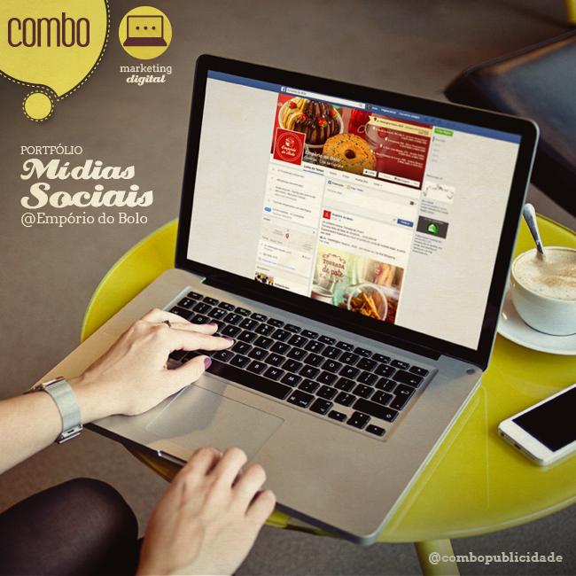 MÍDIAS SOCIAIS | Empório do Bolo Clica no link e confere no nosso portfólio o trabalho que desenvolvemos para a marca.