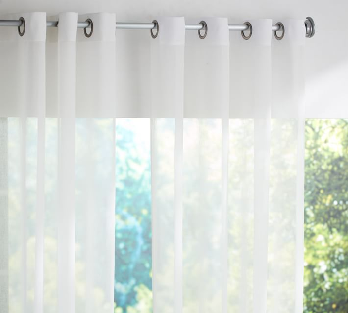 Indoor/Outdoor Sheer Grommet Drape