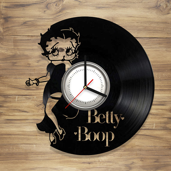 Betty Boop Arts gift for any occasion Betty Boop vinyl wall clock