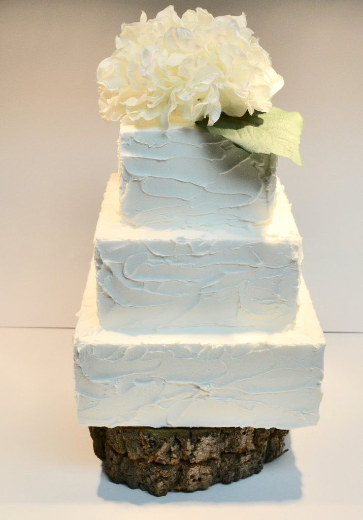 White Rustic Icing Cake