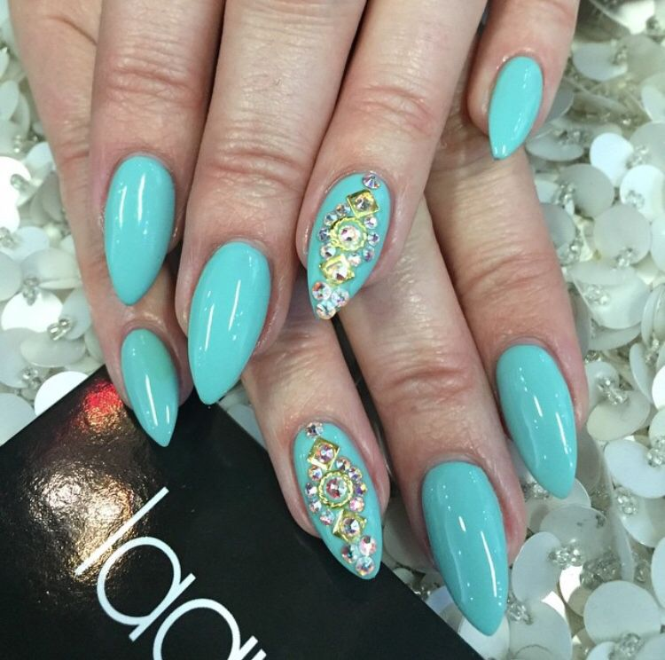 My tiffany blue nails ciate polish with swarovski crystals and my tiffany blue nails ciate polish with swarovski crystals and gold 3d art laque prinsesfo Gallery