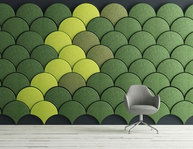 These Scale Shaped Tiles Will Soundproof Your Room With Style Sound Proofing Acoustic Panels Wall Design