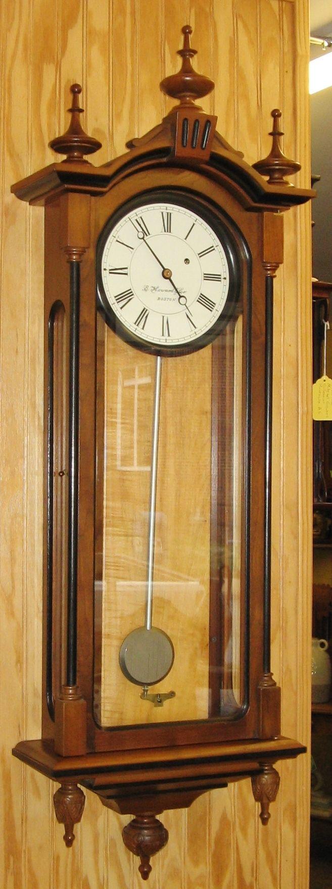 E Howard Co Boston Regulator 59 Weight Driven Wall Clock 1107 Removed Clock Wall Clock Bracket Clocks