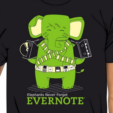 Evernote's Tshirt: Startup shirts people love to wear | Printfection