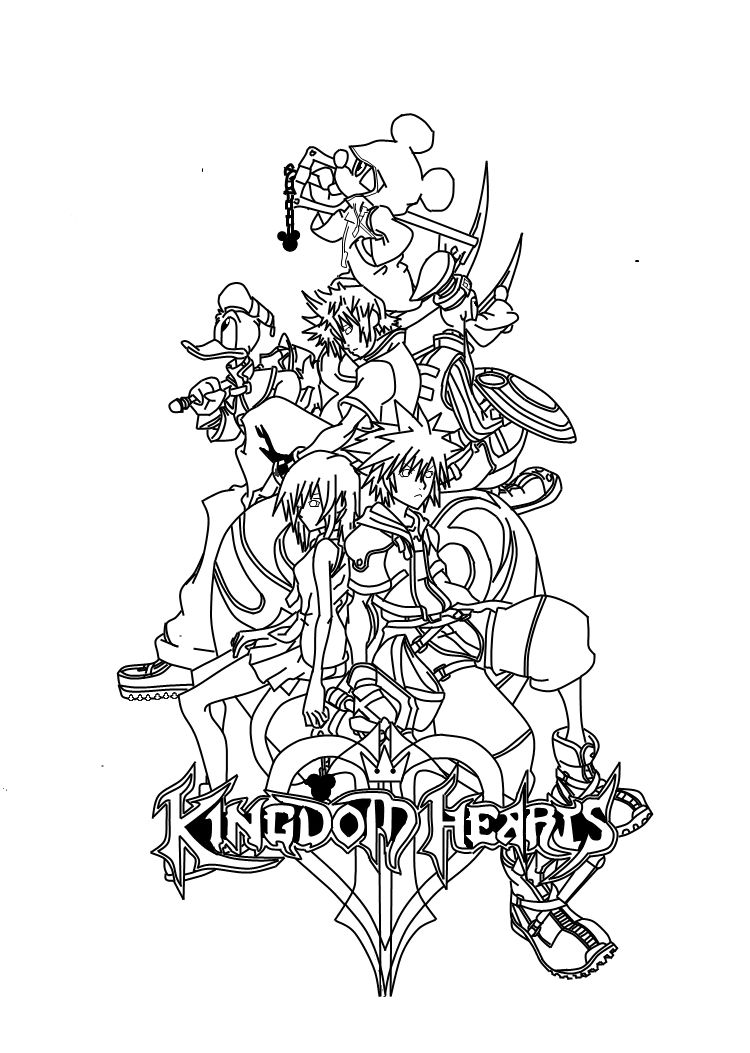 Kingdom Hearts Kingdom Hearts Heart Coloring Pages Adult Coloring Book Pages Coloring Pages