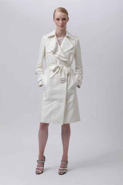 Clean white trench