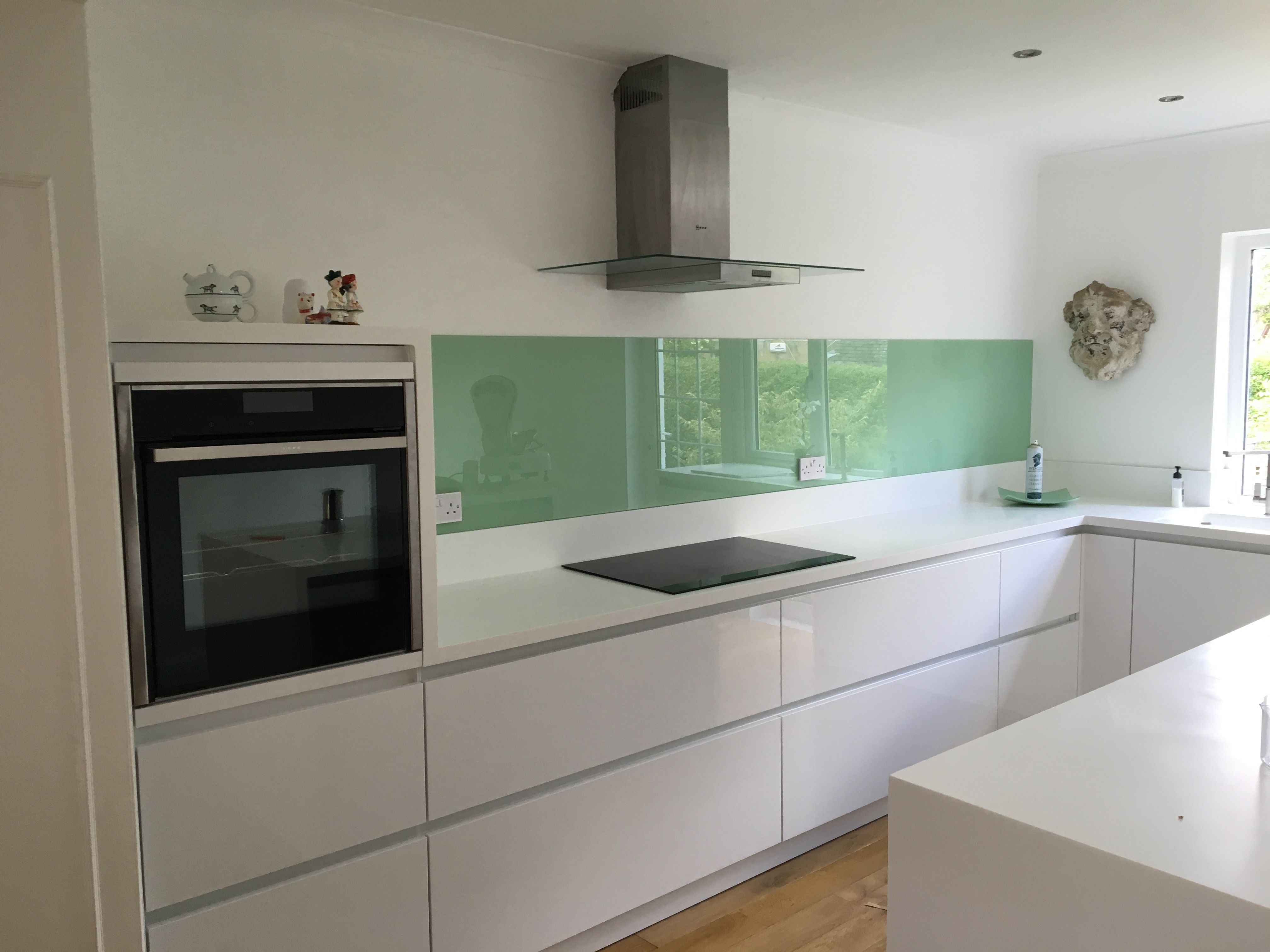 Splashback fitted to finish off client's kitchen in west