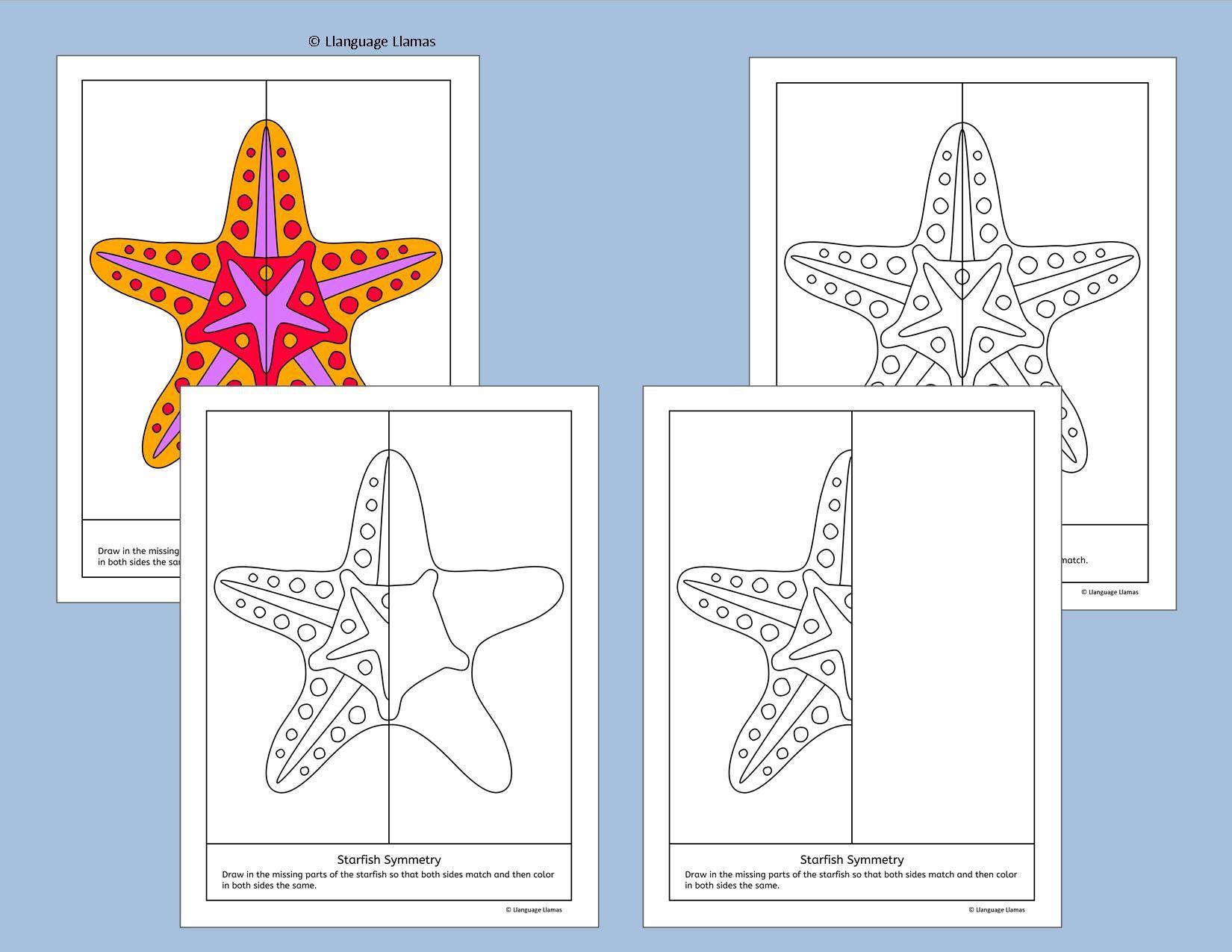 Symmetry - Sea Creatures - NO PREP Geometry | Aktivitäten, Mathe und ...