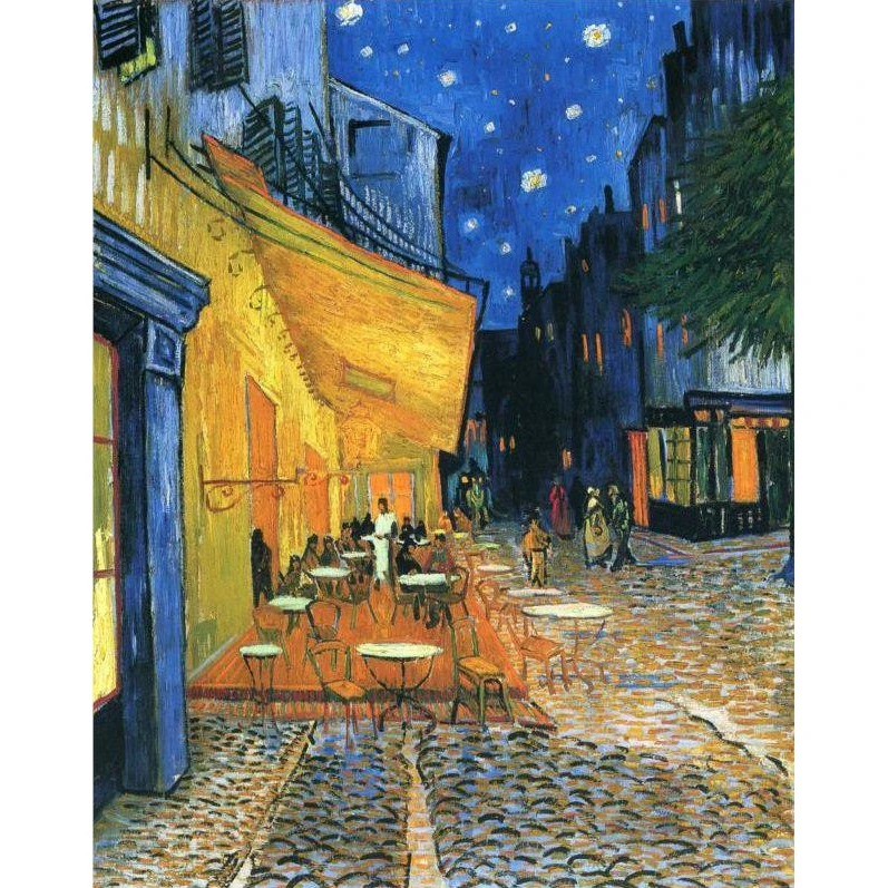 Vincent Van Gogh Cafe Terraza En La Noche Kit De Pintura De Bricolaje Por Numeros Pintura Por Numero In 2020 Van Gogh Van Gogh Paintings Cafe Terrace