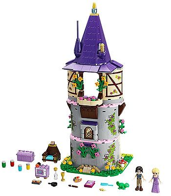 Rapunzel has been locked in the tower with only Pascal the chameleon for company. That's why this princess, with her famous long hair, has become extra creative. Help them as they spend their days painting on the walls and baking cookies in the kitchen. Brush her lovely hair and decorate it with the pretty bows. When Flynn Rider breaks in with the stolen tiara, Rapunzel has to bash him with the frying pan and tie him to the chair. Join the pair on their adventures with each other! Includes 2...