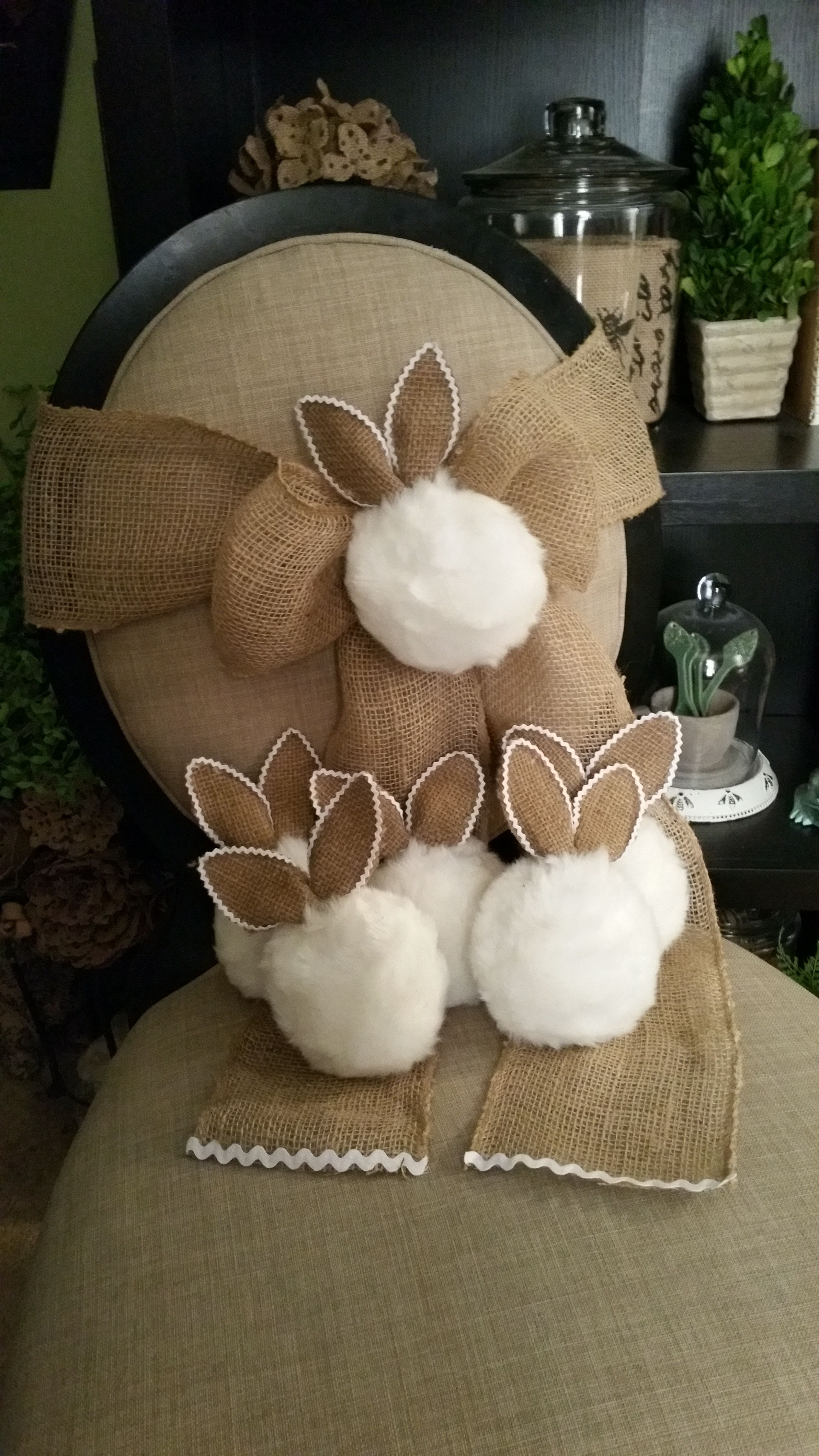 N0 Sew Bunny Tail chair sashes Easter Pinterest