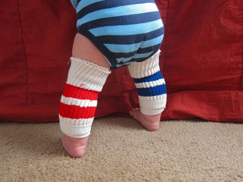 Kneepads For Baby Made From Old Socks So Smart
