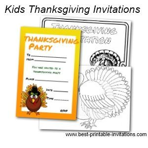 Free Printable Thanksgiving Invitations For Kids  Thanksgiving