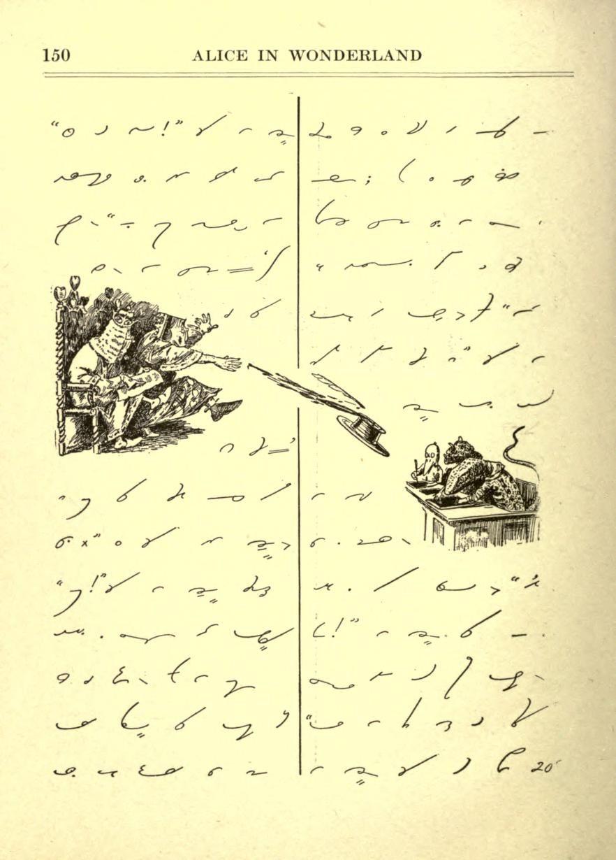 Alice in wonderland in gregg shorthand via nemfrog on tumblr alice in wonderland in gregg shorthand via nemfrog on tumblr buycottarizona