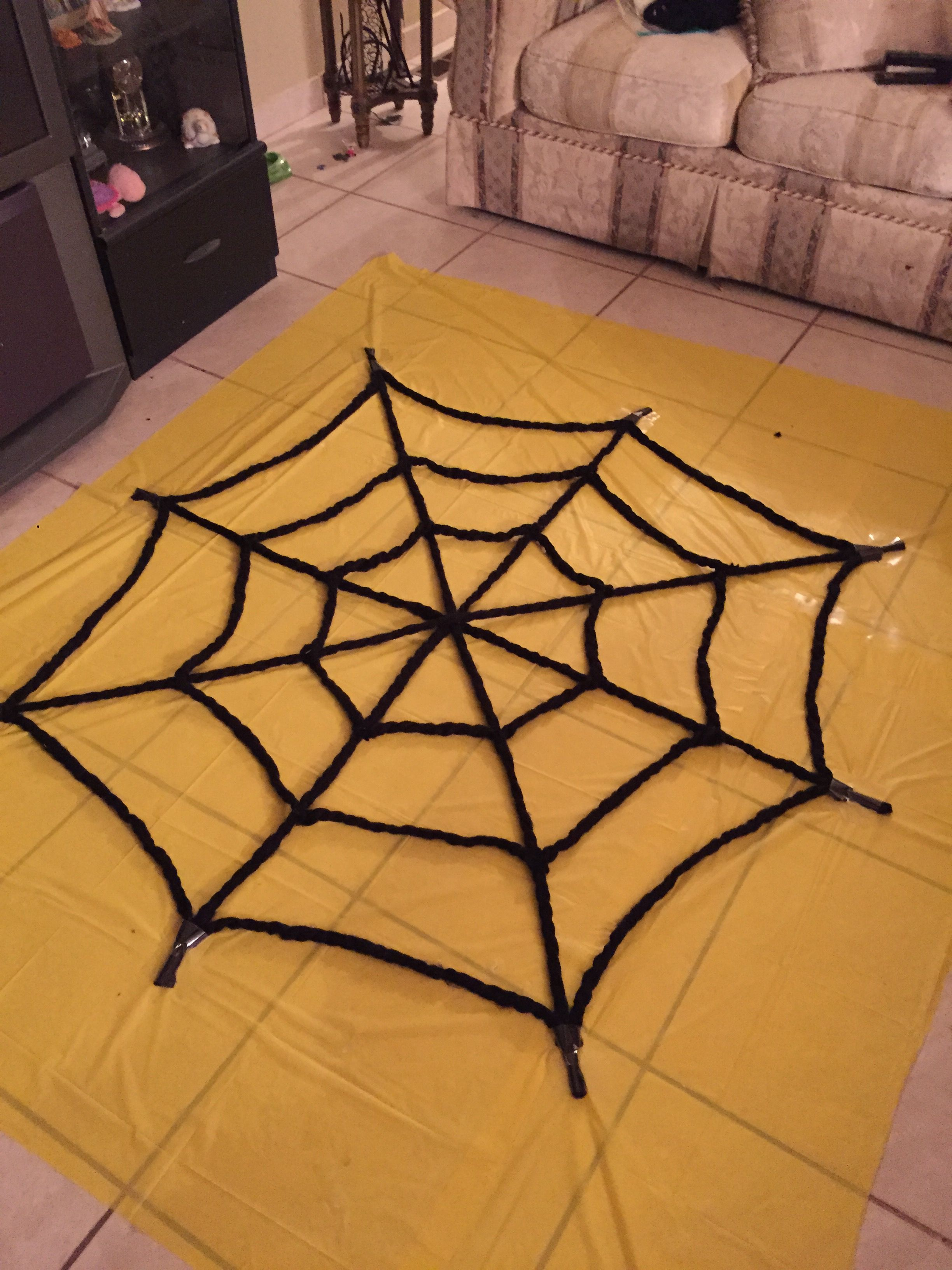 Spider Man Theme Party Spider Web Backdrop Made Out Of Plastic