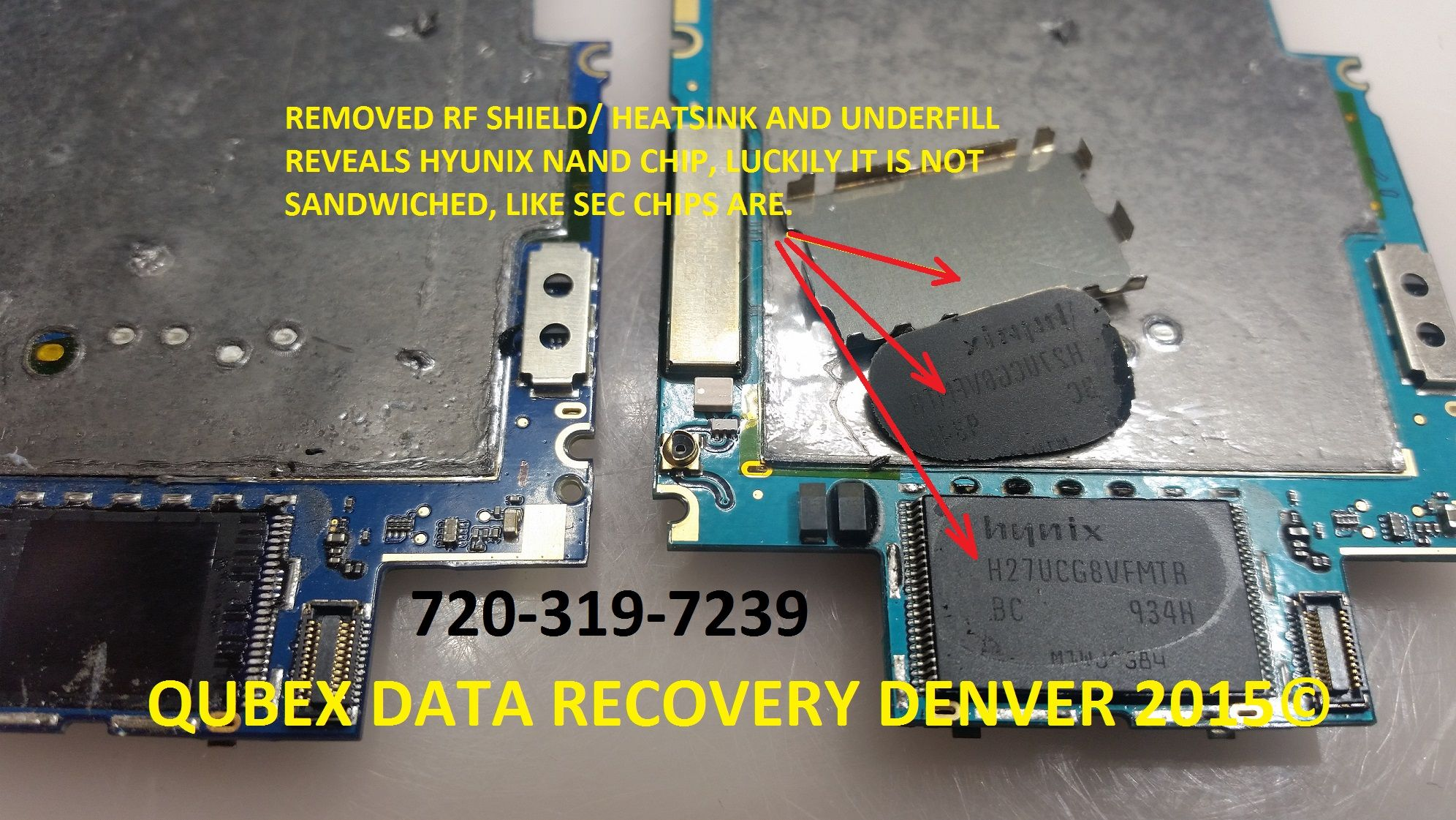SMART PHONE, CELL PHONE IPHONE BGA UNDERFILL EPOXY REMOVAL DATA RECOVERY BY QUBEX DATA RECOVERY