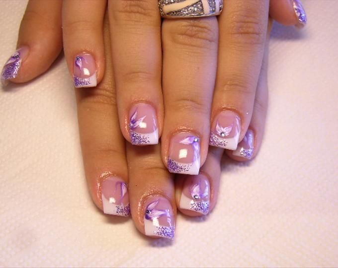 Purple Summer Nail Art Designs Photos Nail Art Designs Colorful Nail Art Nail Art Summer