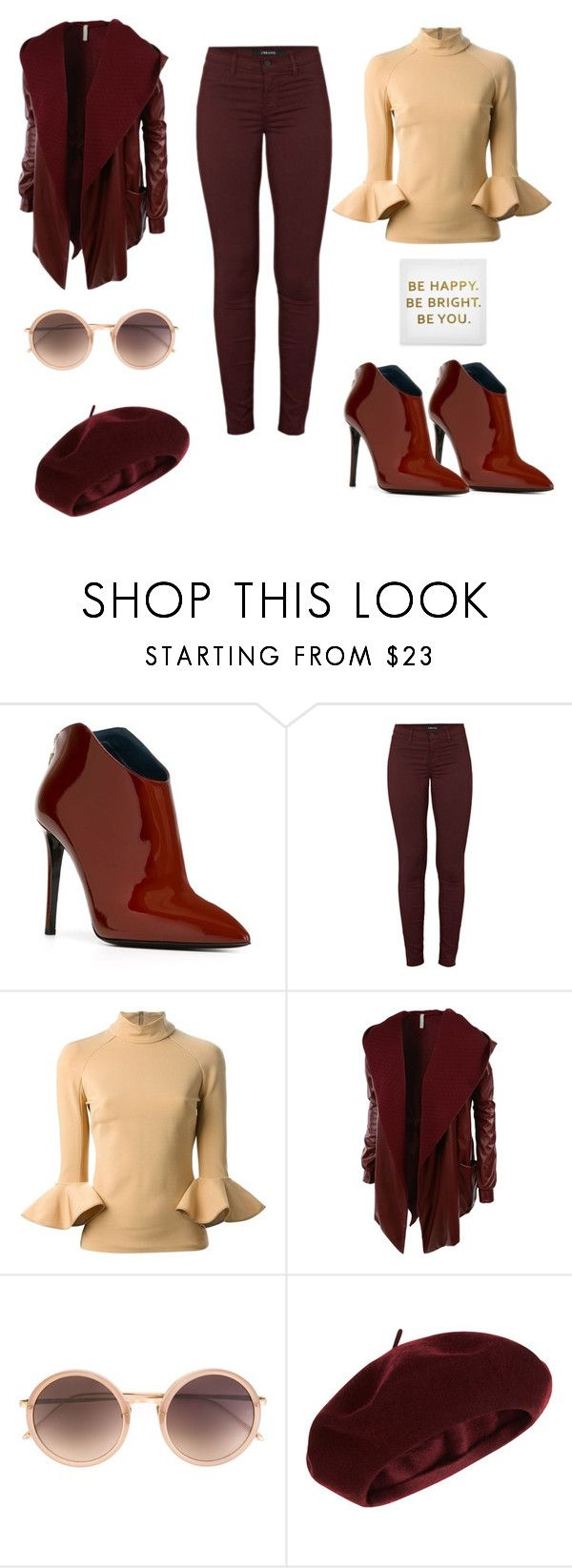 """""""Be happy"""" by b-nieves ❤ liked on Polyvore featuring moda, Pollini, J Brand, David Koma, LE3NO, Linda Farrow, Accessorize y Ankit"""