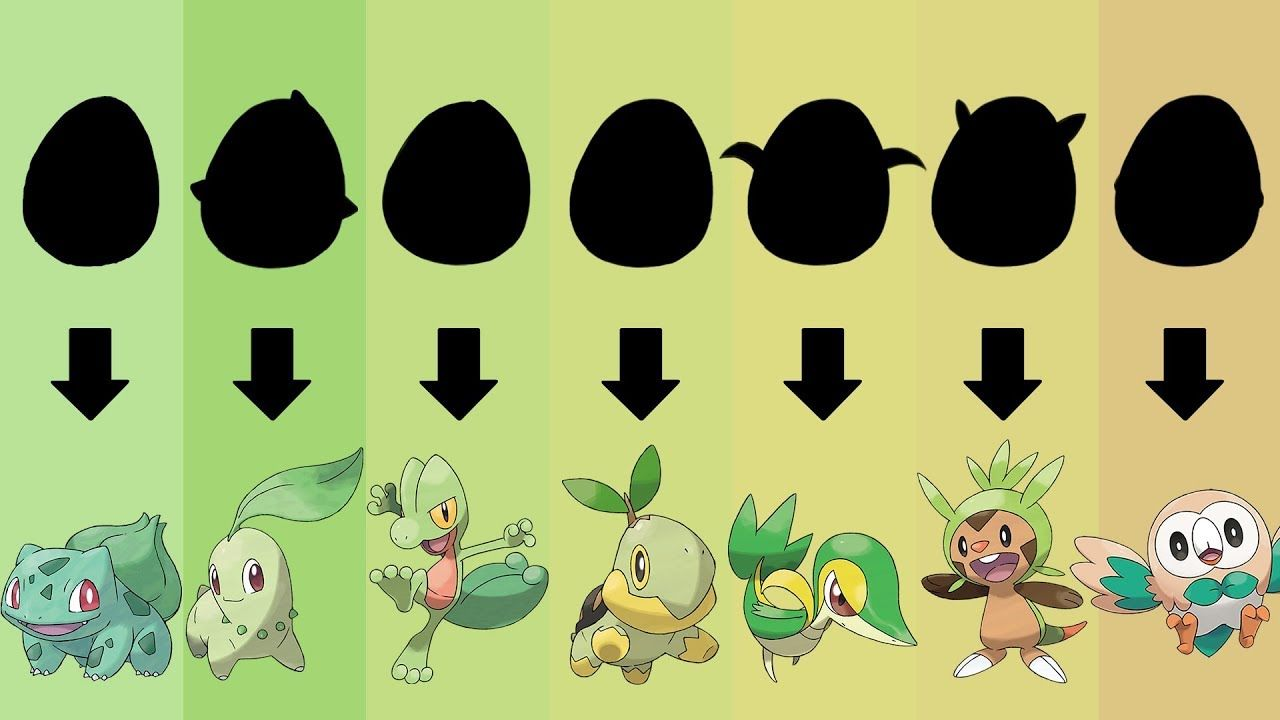 Pokemon Eggs Requests #6: All Grass Type Starters Gen 1 to 7
