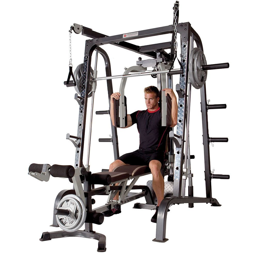 Marcy Smith Machine Cage System Md 9010g At Home Gym Best Home Gym Equipment Home Gym Equipment