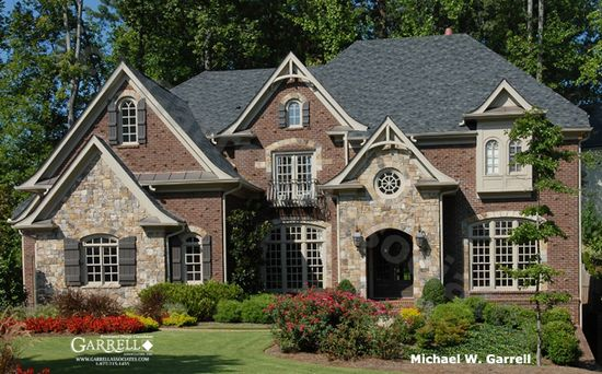 Nice exterior combo this home is larger than ours is for Brick and stone elevations