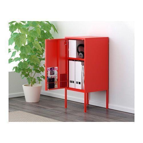 Ikea Mobile Metallo.Mobile Lixhult Metallo Rosso Svuotatasche Ikea