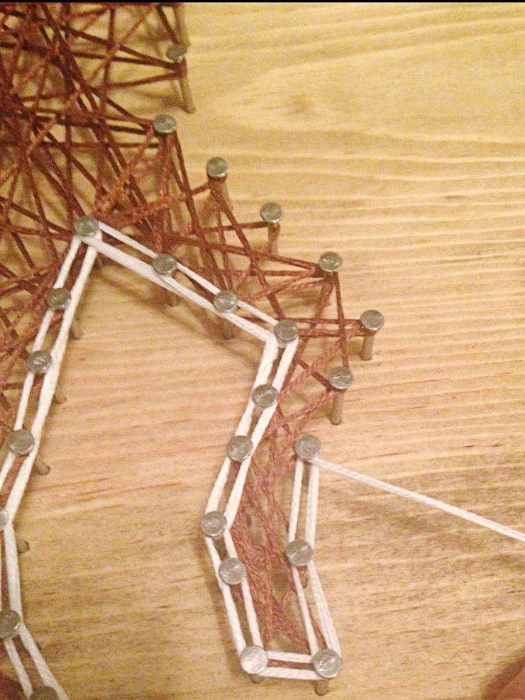 How to make string art - 14   string art   Pinterest   String art
