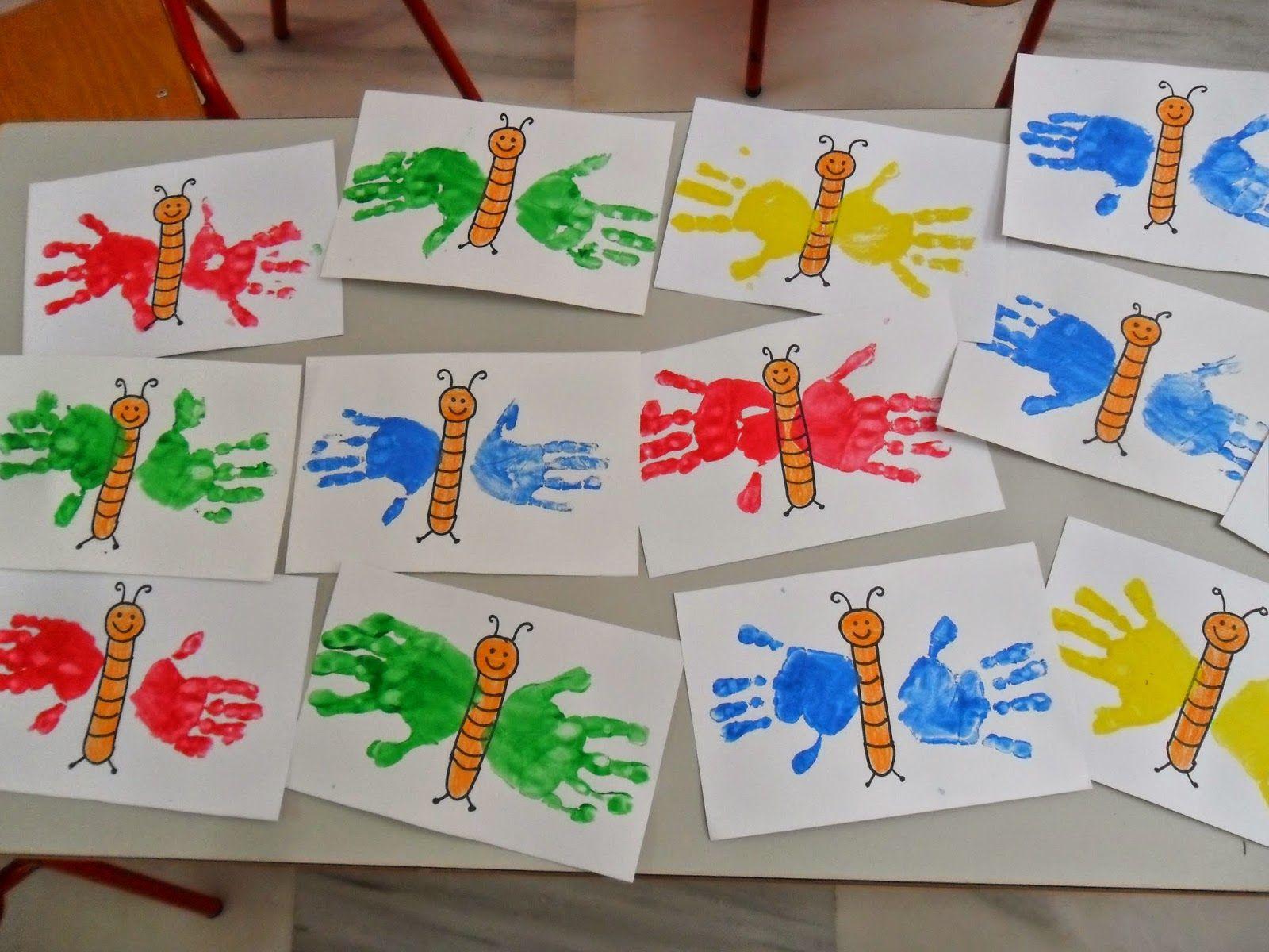 Materiales para educaci n infantil mariposas blog - Pintura acrilica manualidades ...