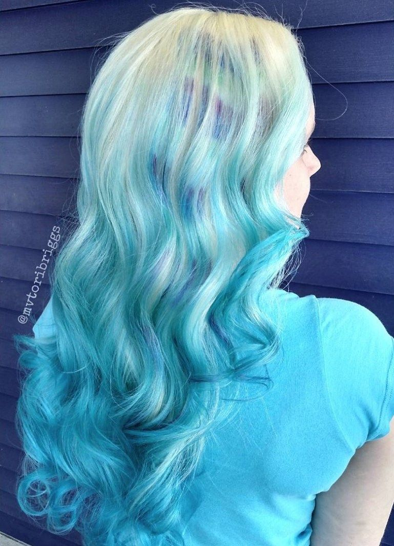 icy light blue hair color ideas for girls blue ombre ombre and
