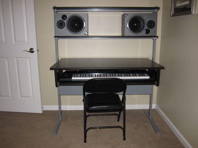 Musician S Keyboard Desk From Ikea Hackers Ikea Hackers Home Studio Setup Keyboard