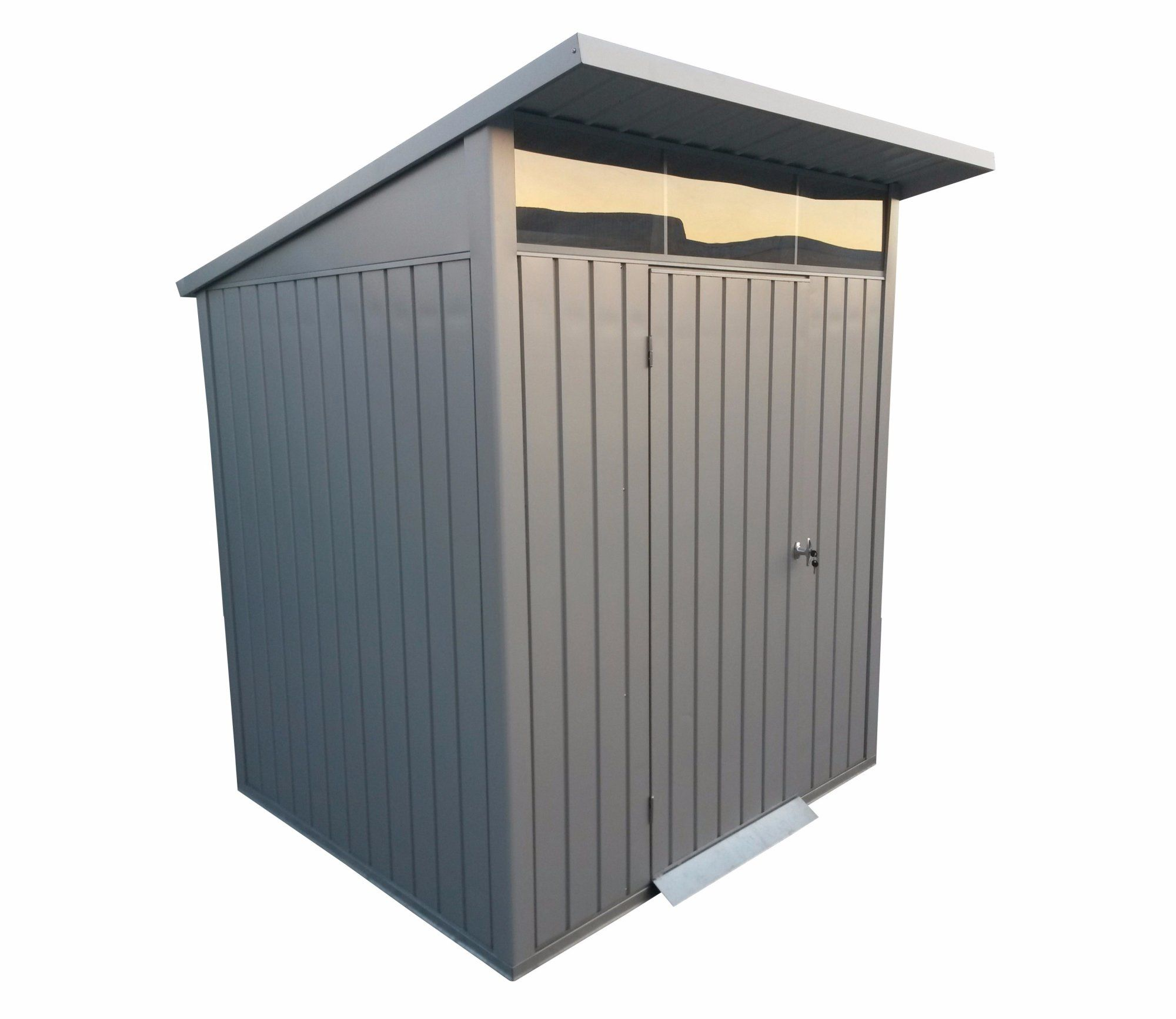 duramax palladium 6ft x 5ft metal shed