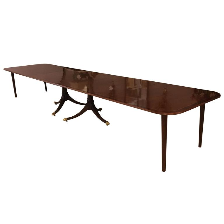Monumental English Georgian Style Dining Table 16 Feet Long From A Unique Collection Of Antique And Modern Room Tables At