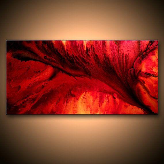 abstrakte malerei rote leinwand kunst moderne fine art marmor wand home decor auf und künstler schwarz weiß bilder abstrakt