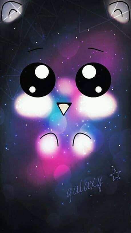 Galaxy Wallpaper Iphone Cute Emoji Backgrounds Kawaii