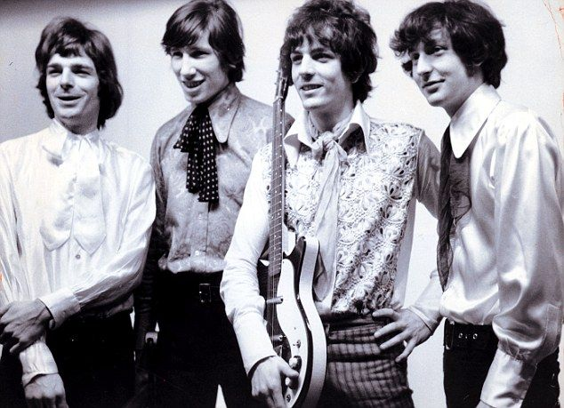 Popular: Pink Floyd are pictured in 1967. Left to right are Rick Wright, Roger Waters, Syd Barrett and Nick Mason
