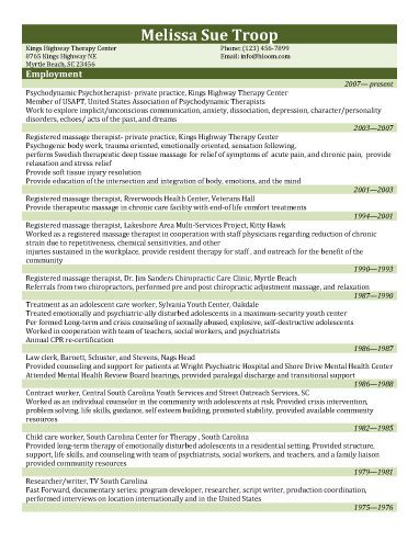 Private Practice Therapist Resume Template  Resume Templates And