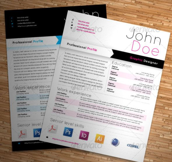 Photoshop  Indesign CvResume Templates  Cv