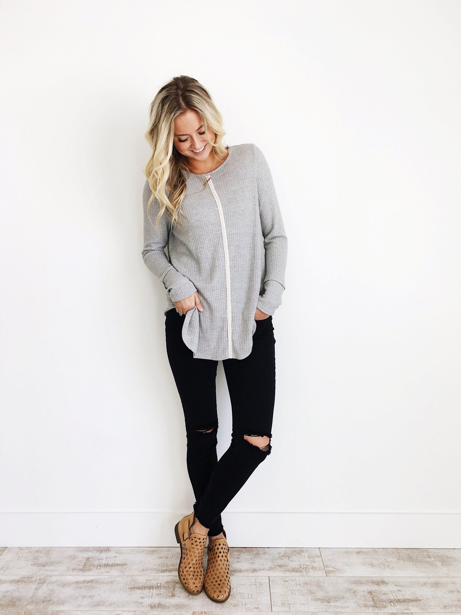 perfect sueter gris mujer outfit la