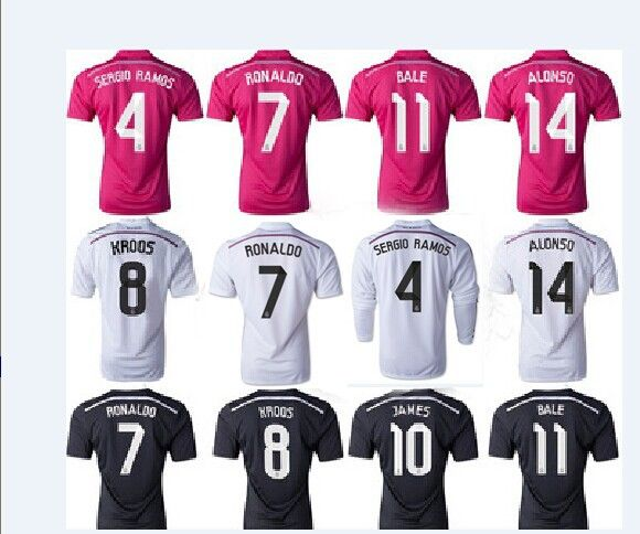 50d315ef6 Find More Sports Jerseys Information about 14 15 Real Madrid thailand  quality Ronaldo SERGIO RAMOS BENZEMA
